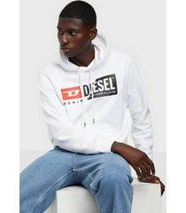 diesel s girk hood cuty sweatshirt tröjor bright white