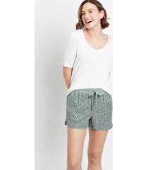 maurices womens olive leopard weekender 3.5in shorts brown