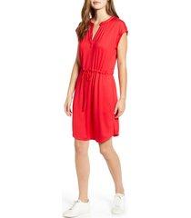 women's gibson x hi sugarplum! como drawstring jersey dress, size large - pink