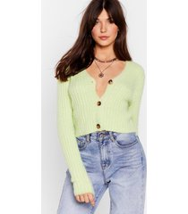 womens button-down for whatever fluffy knit cardigan - green