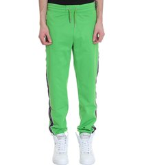 givenchy pants in green polyester