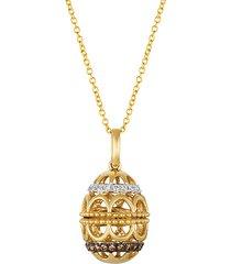 le vian chocolatier® 14k honey gold™, vanilla diamond® & chocolate diamond® pendant necklace