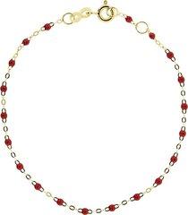 gigi clozeau 18kt yellow gold classic gigi poppy beaded bracelet