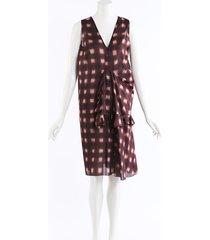 marni checked cotton ruffle dress