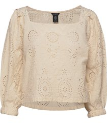 blouse ana anglais crop tops beige lindex