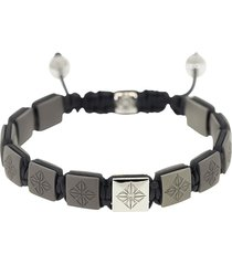 shamballa jewels 18kt white gold, titanium and diamond beaded bracelet