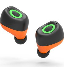 audifonos bluetooth mini auricular manos libres - naranja verde