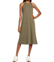 madewell westville tank midi dress, size small in olive tree at nordstrom