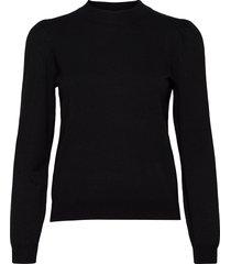 nubaojin pullover stickad tröja svart nümph