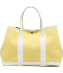 hermès pre-owned garden party tote bag - yellow