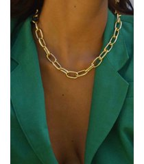 chunky chain collarbone necklace