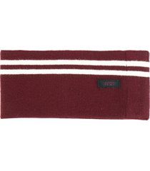 nº21 striped knit ribbed belt - red