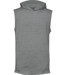 mens momentum hooded vest hoodie trui grijs icebreaker