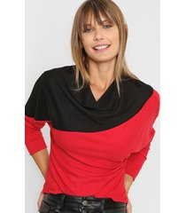 sweater roja destino collection bicolor