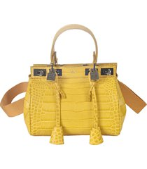 giambattista valli twist-lock skinned tote