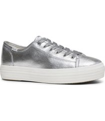zapatilla triple kick metallic plateado keds