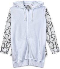 cartoon print hoodie shirt