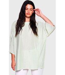 blusa glamorous mc verde claro - calce oversize