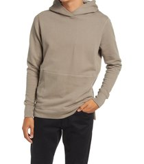 john elliott villain slim fit french terry hoodie, size large in dust at nordstrom