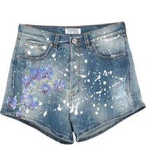 p jean denim shorts