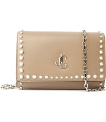 jimmy choo ballet pink calf leather clutch bag