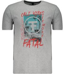 camiseta fatal cali vibes estampada masculina