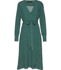 aurélie wrap dress jurk knielengte groen morris lady