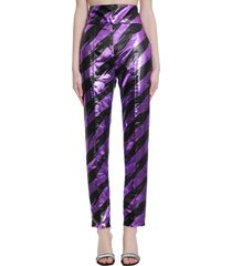 alexandre vauthier pants in viola polyester