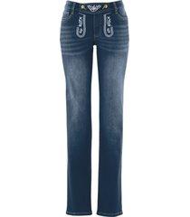 folkdräktsinspirerade jeans, raka ben