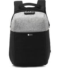 mochila negra zom anti-robo