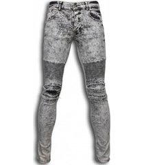 skinny jeans true rise ripped jeans biker jeans lined knee pads licht