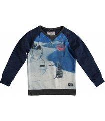 retour blauwe sweater