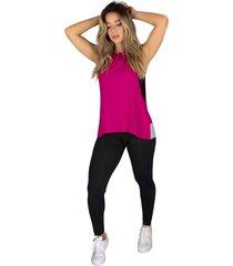 regata rb moda visco pink - rosa - feminino - viscose - dafiti