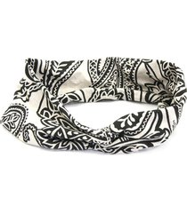 headband turbante bijoulux paisley bege - tricae