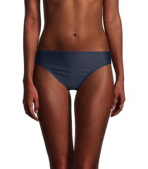 tommy hilfiger women's classic bikini bottom - navy - size m