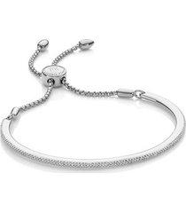 sterling silver fiji skinny bar friendship chain bracelet diamond