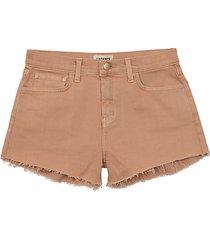 ryland high-rise frayed shorts