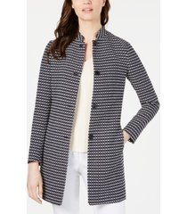 anne klein ribbon-tweed topper jacket
