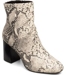 biabrita leather boot shoes boots ankle boots ankle boots with heel beige bianco