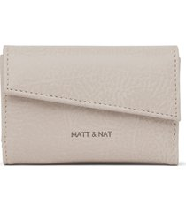 matt & nat tani small wallet, koala matte nickel