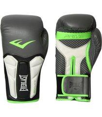luva boxe elite prime everlast preta com verde