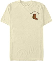 fifth sun pixar-toy story 4 men's woody's boot pocket short sleeve t-shirt