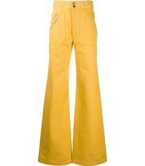 marc jacobs braided detail wide-leg trousers - yellow
