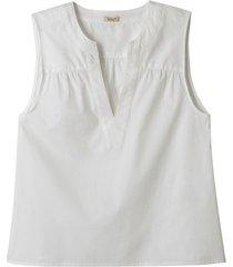 blouse-top van bio-katoen, wit 46