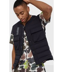 wood wood kelvin light padded vest jackor navy