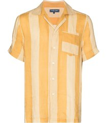 frescobol carioca cabana vertical-stripe shirt - yellow