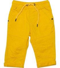 pantalon gabardina elasticado en cintura mostaza  pillin