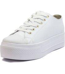 tenis blanco blanco perla tp-096