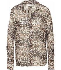 inwear 30104715 kathylw blouse french nogat leopard