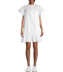 rebecca minkoff women's natalia flounce dress - white - size s